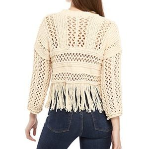 Free People Sweaters - 🌸Free People Higher Love Cropped Fringed Sweater